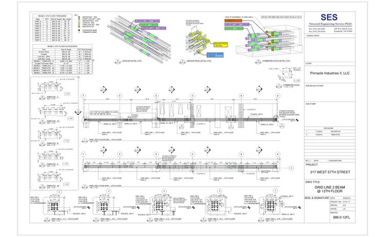 217 W 57th Sheet Bm 2 12fl Grid Line 2 Beam 12th Floor 1