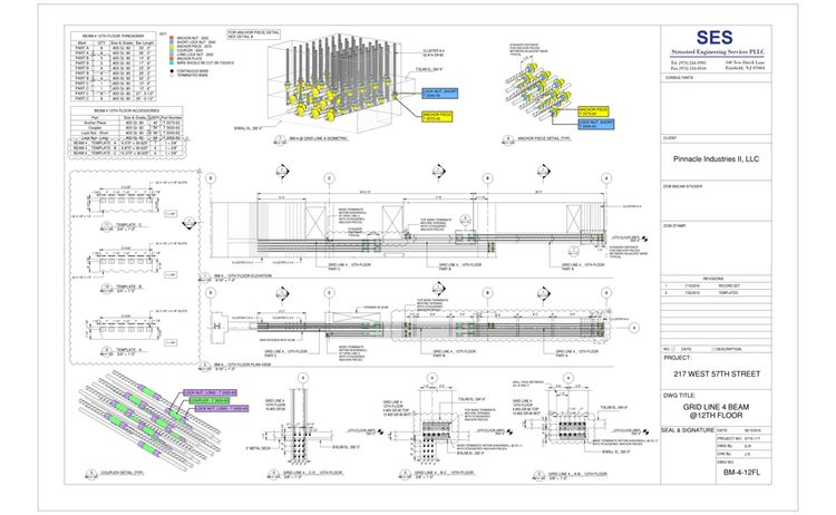 217 W 57th Sheet Bm 4 12fl Grid Line 4 Beam 12th Floor 2