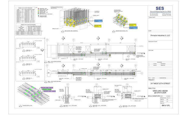 217 W 57th Sheet Bm 4 12fl Grid Line 4 Beam 12th Floor 1