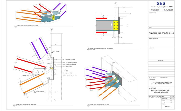 217 W 57th Sheet Sk 101 Ses Design Concept Grid B Grid 5
