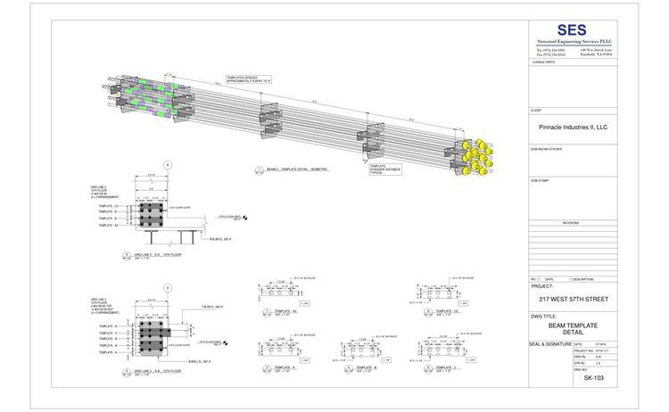 217 W 57th Sheet Sk 103 Beam Template Detail