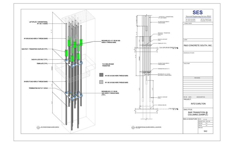 Bar Transition Columns Sample