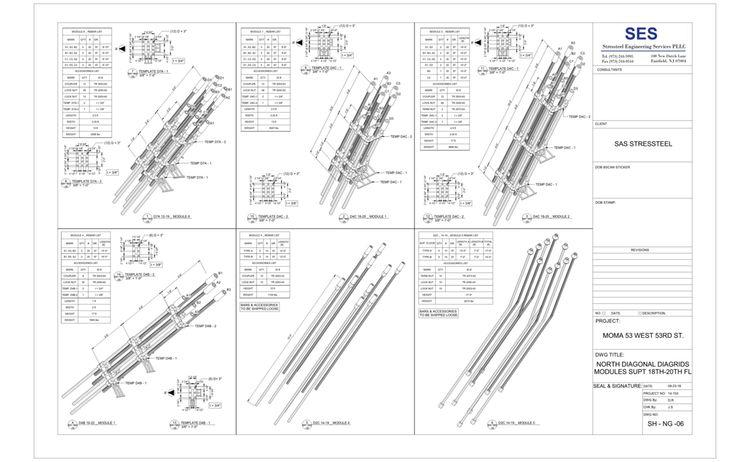 Moma Sheet Sh Ng 06 North Diagonal Diagrids Modules Supt 18th 20th Fl