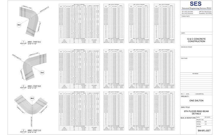 One Dalton Bm 8fl Det 8th Floor Beam Details