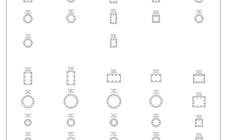 Ritz Carlton Column Schedule Sketches