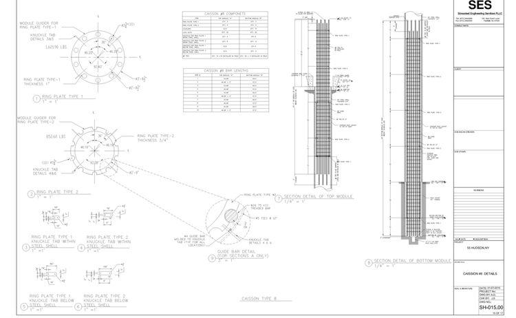 U Technical Ses Stressteel 14 105 55 Hudson Dwgs Shop 55 Hudson Yards Caisson Design 3 Caisson 8 Detail 1