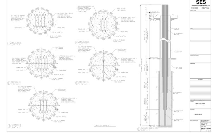 U Technical Ses Stressteel 14 105 55 Hudson Dwgs Shop 55 Hudson Yards Caisson Design 3 Caisson 9 1